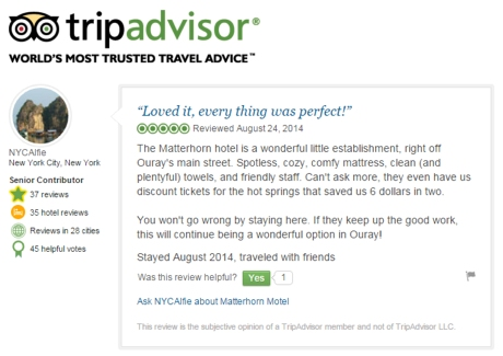 Matterhorn Inn Ouray, CO Trip Advisor Reviews